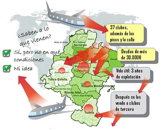 Hay 37 clubs en Navarra, además de los pisos y la calle