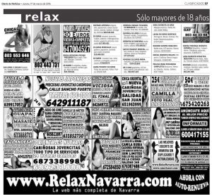 Un día cualquiera en la sección de anuncios clasificados de Diario de Noticias de Navarra