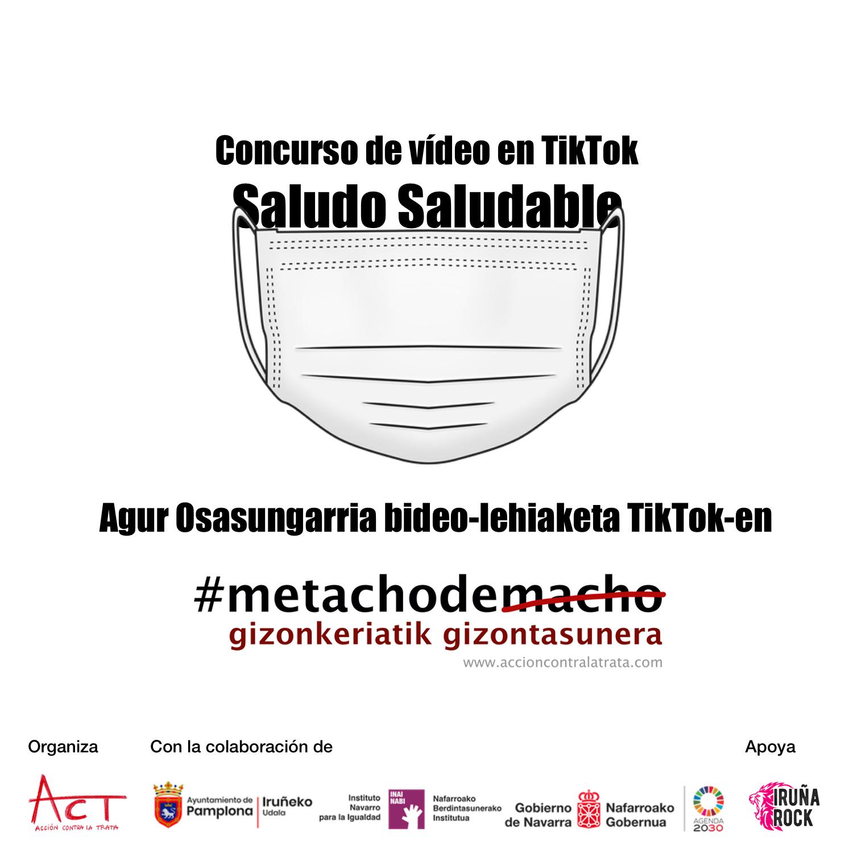 Cartel concurso de vídeos en TikTok Saludo Saludable